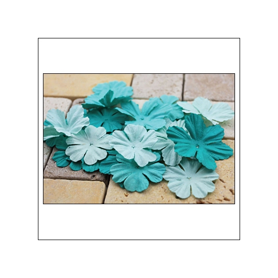 Prima Marketing E-Line Paper Flowers Bermuda Mixed Blue