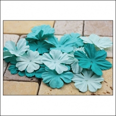 Prima Marketing E-Line Paper Flowers Bermuda Mixed Blue