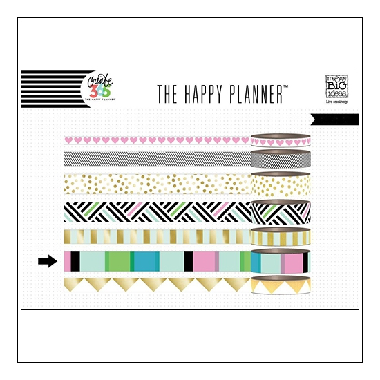 Me and My Big Washi Tape Roll Black and White Create 365 The Happy Planner Collection