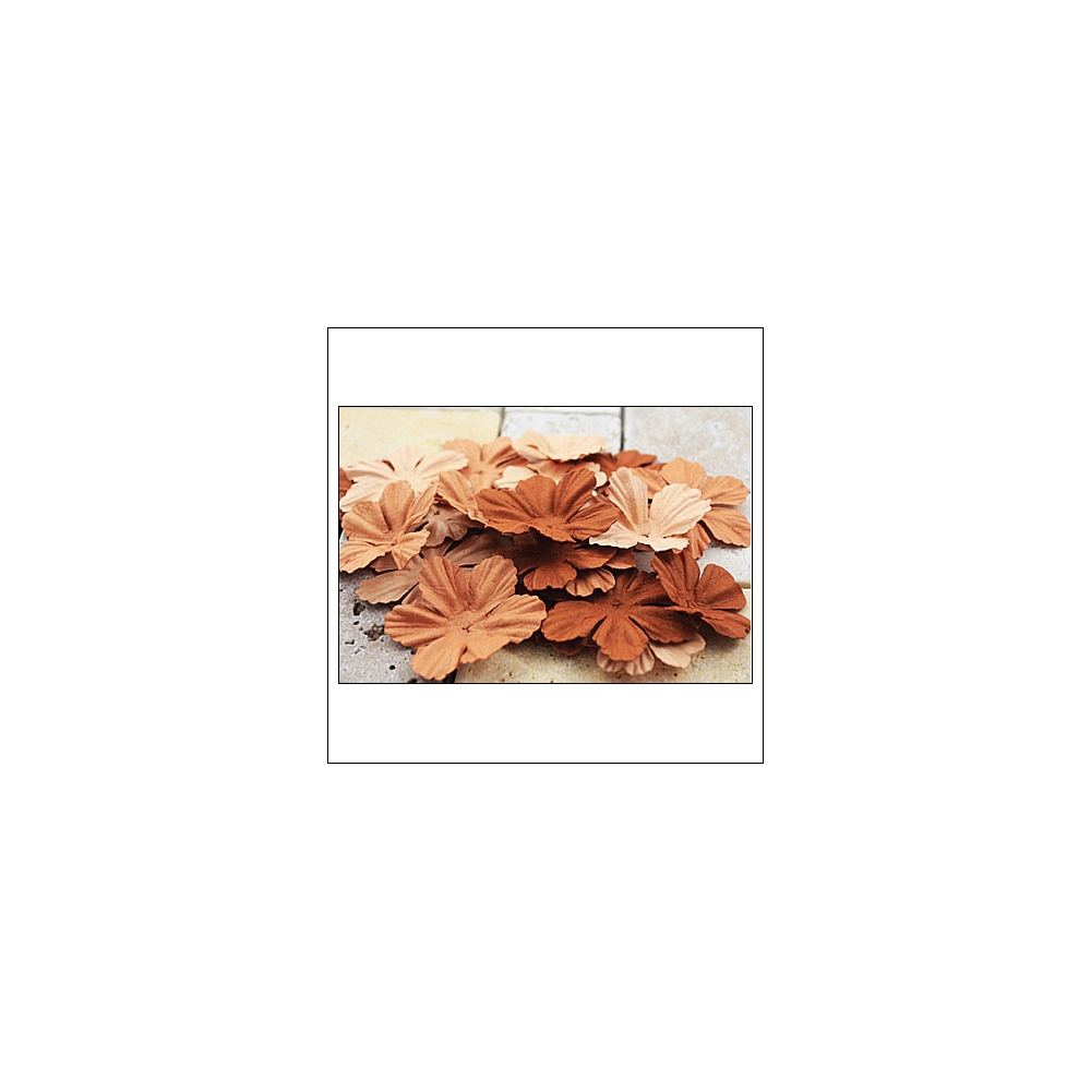 Prima Marketing E-Line Paper Flowers Bermuda Mixed Brown