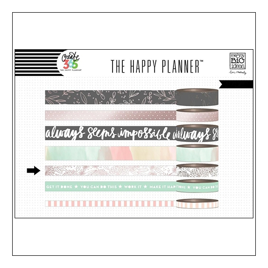 Me and My Big Washi Tape Roll Rose Create 365 The Happy Planner Collection