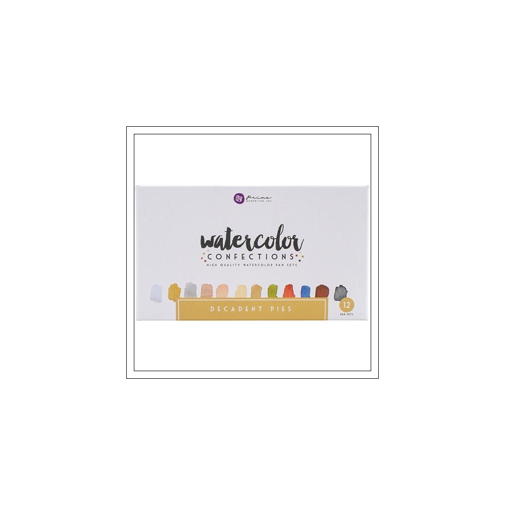 Prima Marketing Watercolor Confections Pans Decadent Pies