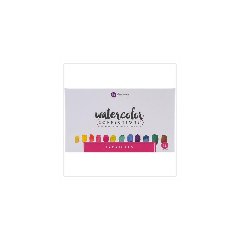 Prima Marketing Watercolor Confections Pans Tropicals