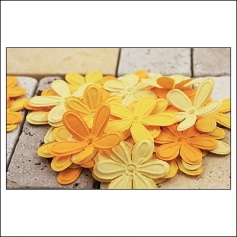 Prima Marketing E-Line Paper Flowers Celebration Mixed Yellow