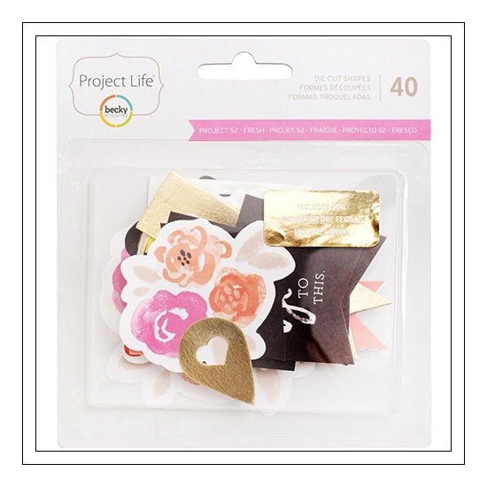 American Crafts Project Life Cardstock Die Cut Shapes Project 52 Fresh Edition by Liz Tamanaha
