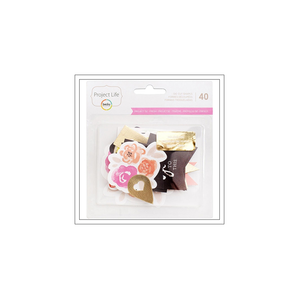 American Crafts Project Life Cardstock Die Cut Shapes Currently Edition by Peppermint Granberg Jones