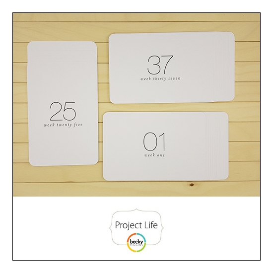 American Crafts Project Life 4x6 inch Core Kit Card Set 52 Weeks Project 52 Fresh Edition Collection by Liz Tamanaha
