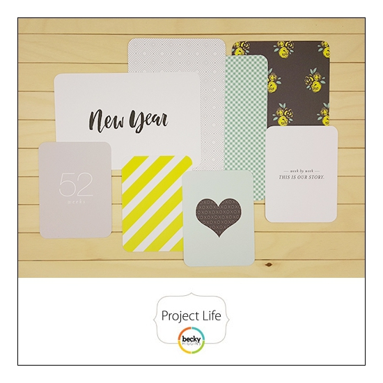 American Crafts Project Life Suggested Placement Cards [last page] Project 52 Fresh Edition Collection by Liz Tamanaha