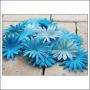 Prima Marketing E-Line Paper Flowers Confetti Mixed Blue