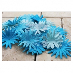 Prima Marketing E-Line Paper Flowers Confetti Mixed Blue
