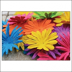 Prima Marketing E-Line Paper Flowers Confetti Mixed Bright