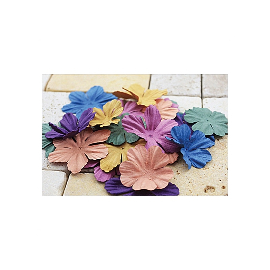 Prima Marketing E-Line Paper Flowers Bermuda Mixed Vintage