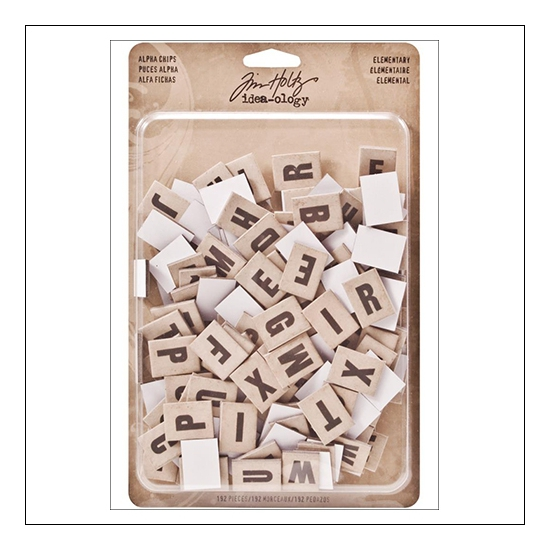 Idea-ology Advantus Alpha Chips Elementary by Tim Holtz