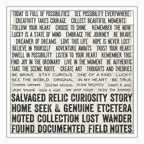 Idea-ology Advantus Word and Phrases Quote Chips by Tim Holtz