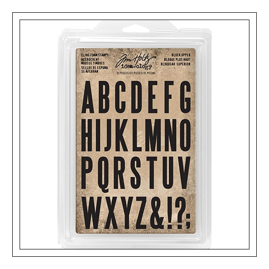 Idea-ology Advantus Cling Foam Stamps Block Uppercase by Tim Holtz