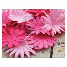 Prima Marketing E-Line Paper Flowers Confetti Mixed Pink