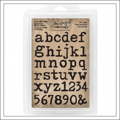Idea-ology Advantus Cling Foam Stamps Type Lower by Tim Holtz
