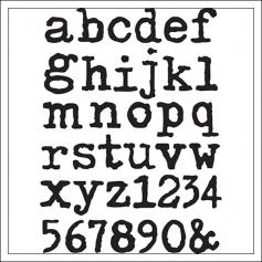 Idea-ology Advantus Cling Foam Stamps Type Lower by Tim Holtz