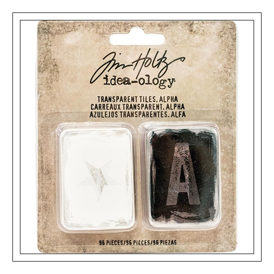 Idea-ology Advantus Transparent Black and White Alphabet, Numbers and Symbol Tiles by Tim Holtz