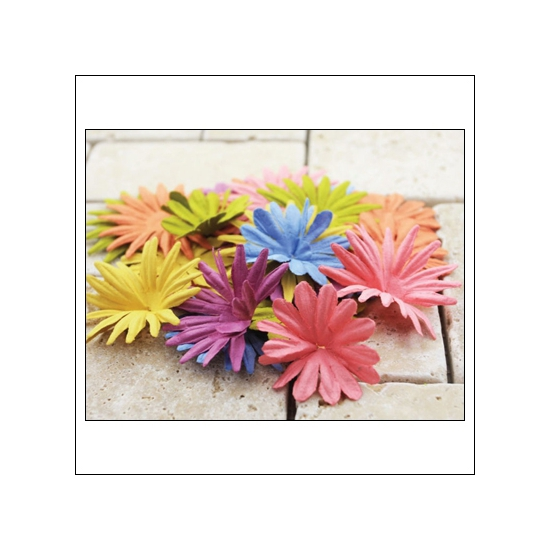 Prima Marketing E-Line Paper Flowers Confetti Mixed Vintage