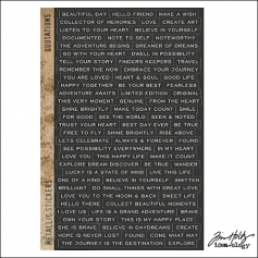 Idea-ology Advantus Metallic Sticker Sheet Quotations by Tim Holtz