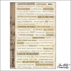 Idea-ology Advantus Clippings Sticker Sheet by Tim Holtz