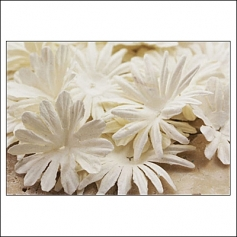 Prima Marketing E-Line Paper Flowers Confetti Mixed White