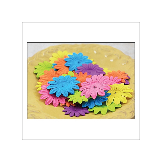 Prima Marketing E-Line Paper Flowers Daisy Mixed Bright