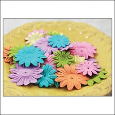 Prima Marketing E-Line Paper Flowers Daisy Mixed Vintage