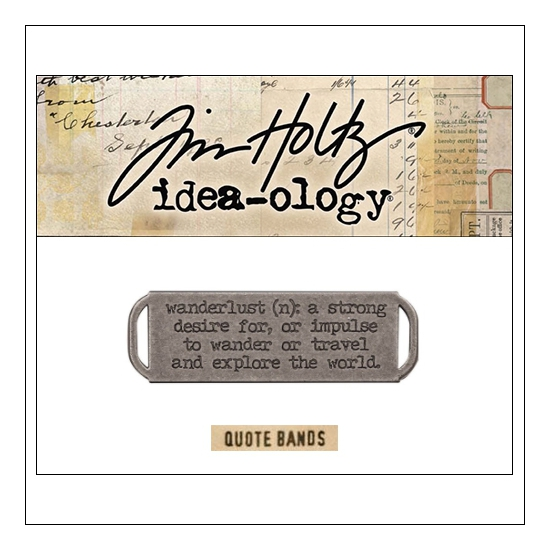 Idea-ology Advantus Metal Quote Band Antique Nickel by Tim Holtz