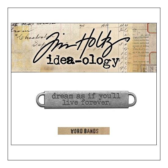 Idea-ology Advantus Metal Word Band Life Antique Nickel by Tim Holtz
