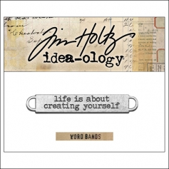 Idea-ology Advantus Metal Word Band Life Antique Nickel by Tim Holtz