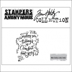 Stampers Anonymous Mini Cling Stamp Doodle Greetings by Tim Holtz Collection