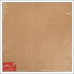 Pebbles Paper Sheet Kraft Gold Glitter Merry Merry Collection