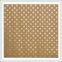 Bazzill Paper Sheet Kraft Gold Foil Stars Specialty Paper