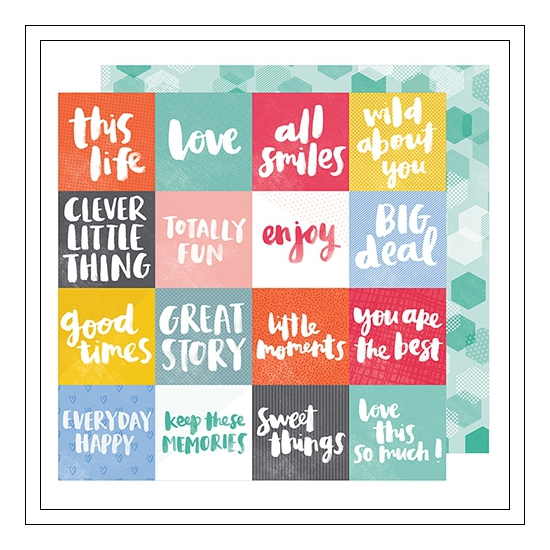 American Crafts Paper Sheet All Smiles Oh Happy Life Collection by Amy Tangerine