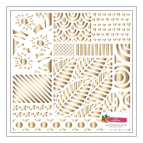 American Crafts Specialty Paper Sheet White Gold Foil Hustle and Heart Collection by Amy Tangerine