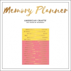 American Crafts Clear Sticker Sheet Gold Foil World Jumble Phrases Memory Planner Collection