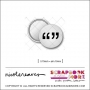 Scrapbook and More 0.75 inch Round Flair Badge Button White Quotation Marks by Nicole Reaves
