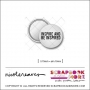 Scrapbook and More 0.75 inch Round Flair Badge Button White Inspire and be Inspired by Nicole Reaves