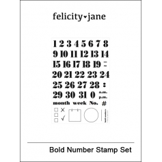 Felicity Jane Clear Stamps Bold Numbers