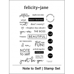 Felicity Jane Clear Stamps Note to Self