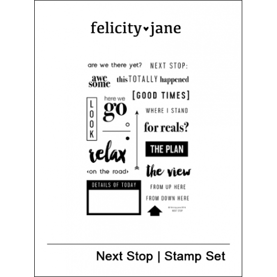 Felicity Jane Clear Stamps Next Stop