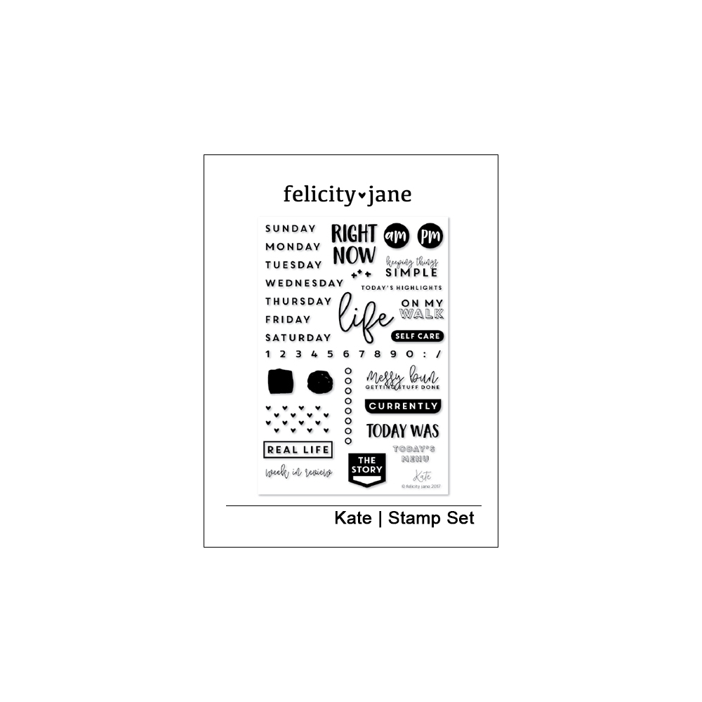 Felicity Jane Clear Stamps Kate