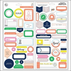 Pinkfresh Studio Word and Phrase Sticker Sheets Felicity Collection
