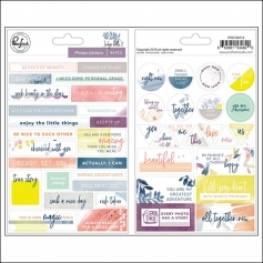 Pinkfresh Studio Phrase Stickers Indigo Hills 2 Collection