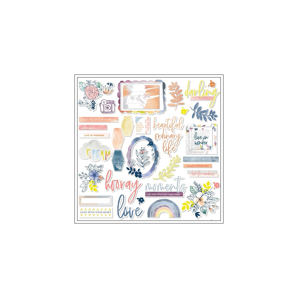 Pinkfresh Studio Ephemera Pack Indigo Hills 2 Collection