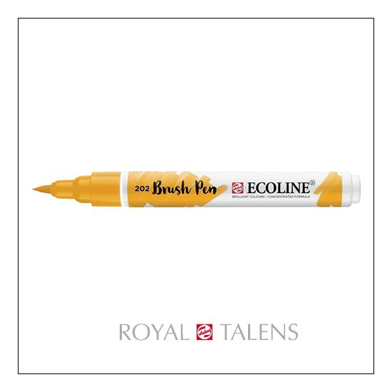 Royal Talens Ecoline Brush Pen Deep Yellow 202