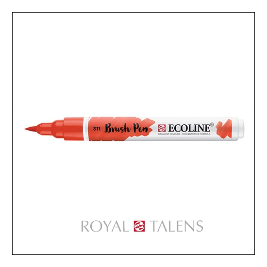 Royal Talens Ecoline Brush Pen Vermilion 311