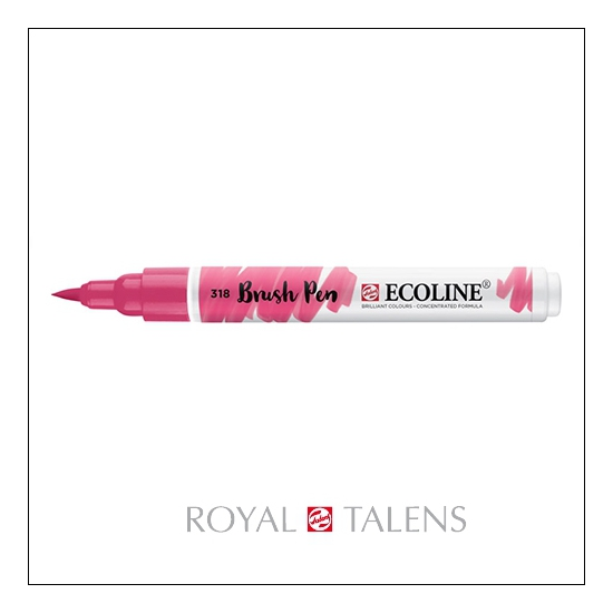 Royal Talens Ecoline Brush Pen Carmine 318
